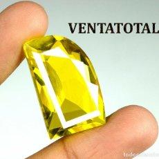 Coleccionismo de gemas: TOPACIO AMARILLO ORO DE 37,70 KILATES CON CERTIFICADO AGSL - MEDIDA 2,7 X 1,7 CENTIMETROS - Nº13. Lote 162524846