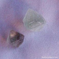 Coleccionismo de gemas: BONITOS CRISTALES OCTAÉDRICOS DE FLUORITA EN VERDE CLARO CON UN TOTAL DE 68.5 CT.. Lote 162645614