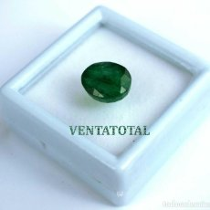 Coleccionismo de gemas: ESMERALDA VERDE DE 7,45 KILATES CON CERTIFICADO IGL -MEDIDA 1,5 X 1,2 CENTIMETRS Nº35. Lote 163529738