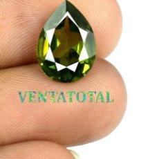 Coleccionismo de gemas: TURMALINA VERDE 5,75 KILATS CON CERTIFICADO AGI - MEDIDA 1,2 X 0,8 CENTIMETROS Nº7. Lote 164002730