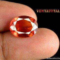 Coleccionismo de gemas: TURMALINA NARANJA 7,65 KILATS CON CERTIFICADO IGL - MEDIDA 1,3 X 1,0 CENTIMETROS Nº12. Lote 164003262