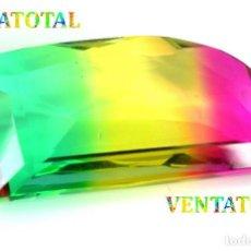 Coleccionismo de gemas: TURMALINA TRI COLOR 65,45 KILATS CON CERTIFICADO AGSL - MEDIDA 4,1 X 2,0 CENTIMETROS Nº17. Lote 164003518
