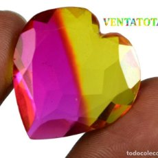 Coleccionismo de gemas: TURMALINA CORAZON BI COLOR 40,00 KILATS CON CERTIFICADO IGL - MEDIDA 2,6 X 2,5 CENTIMETROS Nº18. Lote 164003542