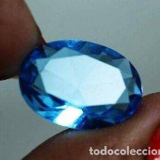Coleccionismo de gemas: BELLÍSIMO TOPACIO AZUL NATURAL PROCEDENTE DE BRASIL CON TALLA OVAL Y 4.20 CT.. Lote 164108630