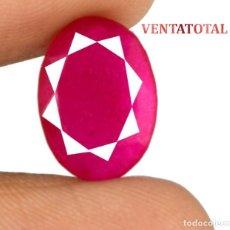 Coleccionismo de gemas: RUBI ROJO 5,55 KILATES CON CERTIFICADO AGSL - MEDIDA 1,4 X 1,0 CENTIMETROS Nº46. Lote 164354114