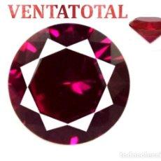 Coleccionismo de gemas: RUBI ROJO TALLA DIAMANTE 2,15 KILATES CON CERTIFICADO AGSL - MEDIDA 0,8 X 0,7 CENTIMETROS Nº48. Lote 164358454