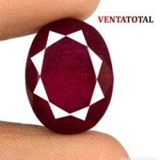 Coleccionismo de gemas: RUBI ROJO DE 10,95 KILATES CON CERTIFICADO AGSL - MEDIDA 1,6 X 1,2 CENTIMETROS Nº53. Lote 164763866