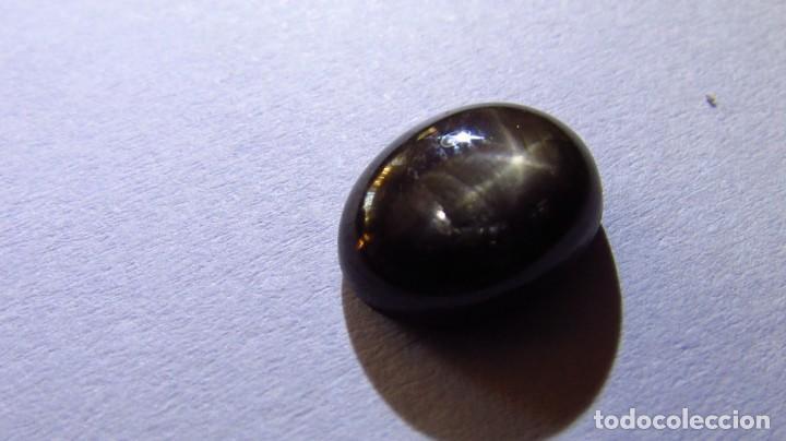 4,28 CT ZAFIRO ESTRELLA NATURAL NEGRO - DORADO (Coleccionismo - Mineralogía - Gemas)