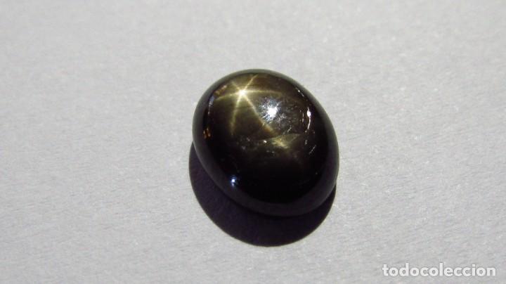 Coleccionismo de gemas: 4,28 ct zafiro estrella natural negro - dorado - Foto 4 - 164817142