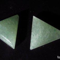 Coleccionismo de gemas: 14,65 CT LOTE - PAREJA DE JADE NEFRITA SIN TRATAR TIPO A. Lote 164818298