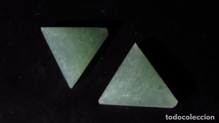 Coleccionismo de gemas: 14,65 CT LOTE - PAREJA DE JADE NEFRITA SIN TRATAR TIPO A - Foto 2 - 164818298