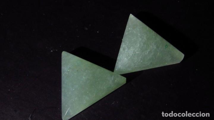 Coleccionismo de gemas: 14,65 CT LOTE - PAREJA DE JADE NEFRITA SIN TRATAR TIPO A - Foto 3 - 164818298