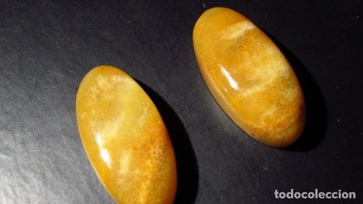 Coleccionismo de gemas: 36,40 CT LOTE PAREJA DE JADE NATURAL NEFRITA COLOR NARANJA - ORO - Foto 2 - 164818718