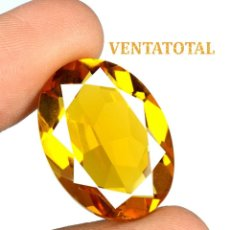 Coleccionismo de gemas: CITRINO AMARILLO DE 25,00 KILATES - CON CERTIFICADO AGSL - MEDIDA 2,4 X 1,7 CENTIMETROS - Nº18. Lote 165696298