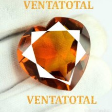Coleccionismo de gemas - CITRINO CORAZON AMARILLO DE 52,25 KILATES - CON CERTIFICADO AGSL -MEDIDA 2,8 X 2,8 CENTIMETROS -Nº19 - 165696754