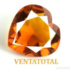 Coleccionismo de gemas: CITRINO CORAZON AMARILLO DE 51,85 KILATES - CON CERTIFICADO AGSL -MEDIDA 2,9 X 2,8 CENTIMETROS -Nº24. Lote 165697286