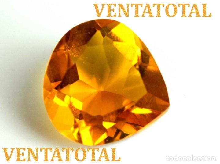 CITRINO AMARILLO DE 19,20 KILATES - CON CERTIFICADO IGL -MEDIDA 1,9 X 1,9 CENTIMETROS -Nº26 (Coleccionismo - Mineralogía - Gemas)