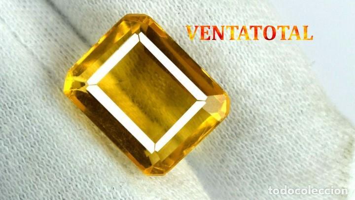CITRINO NARANJA DE 3,95 KILATES - CON CERTIFICADO AGSL -MEDIDA 1,2 X 0,9 CENTIMETROS -Nº31 (Coleccionismo - Mineralogía - Gemas)