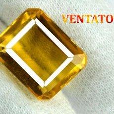 Coleccionismo de gemas: CITRINO NARANJA DE 3,95 KILATES - CON CERTIFICADO AGSL -MEDIDA 1,2 X 0,9 CENTIMETROS -Nº31. Lote 165698314