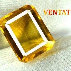 Coleccionismo de gemas: CITRINO NARANJA DE 7,75 KILATES - CON CERTIFICADO AGSL -MEDIDA 1,4 X 1,0 CENTIMETROS -Nº33. Lote 165698338