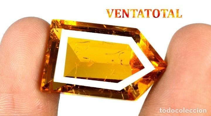 CITRINO AMARILLO DE 31,65 KILATES - CON CERTIFICADO AGSL -MEDIDA 2,6 X 1,5 CENTIMETROS -Nº37 (Coleccionismo - Mineralogía - Gemas)