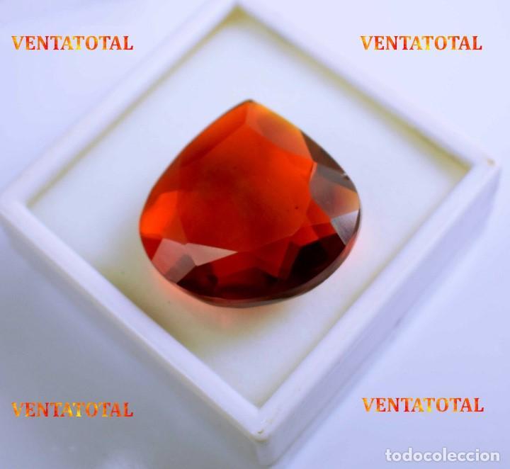 CITRINO AMARILLO DE 97,50 KILATES - CON CERTIFICADO IGL -MEDIDA 3,1 X 3,0 CENTIMETROS -Nº40 (Coleccionismo - Mineralogía - Gemas)