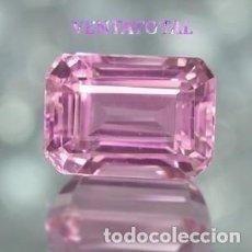 Coleccionismo de gemas: KUNCITE ROSA DE 7,70 KILATES CON CERTIFICADO AGI - MEDIDA 1,1 X 0,8 CENTIMETROS - Nº27. Lote 165798726
