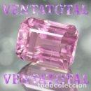 Coleccionismo de gemas: KUNCITE ROSA DE 12,30 KILATES CON CERTIFICADO IGL - MEDIDA 1,2 X 1,1 CENTIMETROS - Nº33. Lote 165799330
