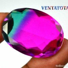 Coleccionismo de gemas: EMETRINO BICOLOR DE 60,05 KILATES CON CERTIFICADO IGL - MEDIDA 3,4 X 2,4 CENTIMETROS - Nº4. Lote 165802866