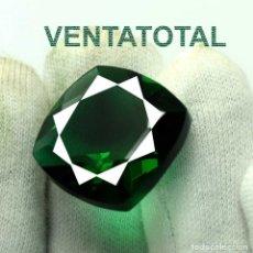 Coleccionismo de gemas: AMATISTA VERDE DE 38,45 KILATES CON CERTIFICADO AGSL - MIDE 2,0 X 2,0 CENTIMETROS - Nº2. Lote 166334210