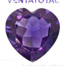 Coleccionismo de gemas: AMATISTA CORAZON VIOLETA DE 38,10 KILATES CON CERTIFICADO IGL - MIDE 2,6 X 2,6 CENTIMETROS - Nº5. Lote 166336530