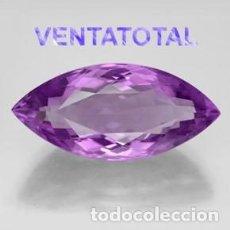 Coleccionismo de gemas: AMATISTA ROMBO VIOLETA DE 21,25 KILATES CON CERTIFICADO IGI - MIDE 3,0 X 1,4 CENTIMETROS - Nº6. Lote 166337262