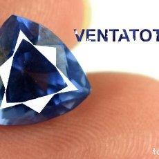 Coleccionismo de gemas: TANZANITA TRILLON AZUL DE 4 KILATES CON CERTIFICADO AGSL - MIDE 0,8 X 0,8 CENTIMETROS -Nº5. Lote 166340602