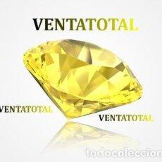 Coleccionismo de gemas: TOPACIO LIMON DESLUMBRANTE TALLA DIAMANTE 97,00 KILATES - MEDIDA 4,0 X 2,0 CENTIMETROS Nº1. Lote 166579878