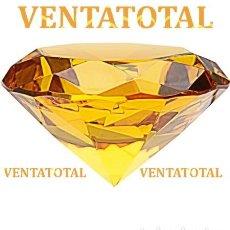 Coleccionismo de gemas: TOPACIO AMARILLO ANARANJADO DESLUMBRANTE TALLA DIAMANTE 98,00 KILATES -MIDE 4,0 X 2,0 CENTIMETROS N1. Lote 166580378