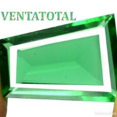 Coleccionismo de gemas: MOLDAVITA VERDE ESMERALDA DE 30,10 KILATES - CON CERTIFICADO AGSL - MIDE 2,6 X 1,9 CENTIMETROS Nº11. Lote 166730706