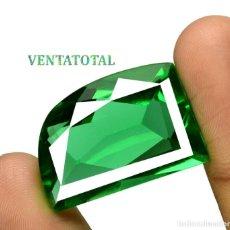 Coleccionismo de gemas: MOLDAVITA VERDE ESMERALDA DE 40,65 KILATES - CON CERTIFICADO AGSL - MIDE 2,7 X 1,8 CENTIMETROS Nº14. Lote 166732070