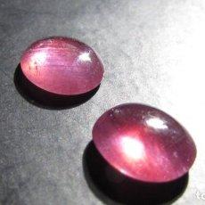 Coleccionismo de gemas: 5,56 CT CT LOTE PAREJA DE RUBIES NATURALES TALLA CABUJON ORIGEN MOZAMBIQUE. Lote 167754628