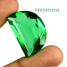 Coleccionismo de gemas: MOLDAVITA VERDE ESMERALDA DE 36,55 KILATES - CON CERTIFICADO AGSL - MIDE 2,7 X 1,8 CENTIMETROS Nº15. Lote 167770464
