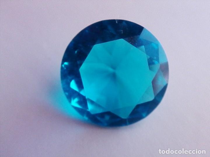 Coleccionismo de gemas: Deslumbrante Circón Natural Variedad Light. Circular de 7.50 Ct y 13.9 mm de diametro. - Foto 8 - 155178638