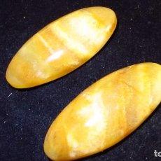 Coleccionismo de gemas: 81,95 CT LOTE - PAREJA DE JADE NEFRITA NATURAL SIN TRATAR NARANJA ATARDECER TALLA CABUJON. Lote 168518080