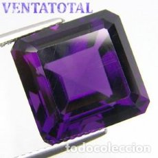 Coleccionismo de gemas: AMATISTA VIOLETA DE 12,40 KILATES - MIDE 1,5 X 1,4 X CENTIMETROS Nº1. Lote 168761984