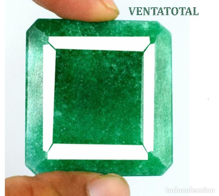 GIGANTE ESMERALDA DE 418,34 KILATES CON CERTIFICADO DGSL - MEDIDA 4,9 X 4,6 CENTIMETROS - Nº7 (Coleccionismo - Mineralogía - Gemas)