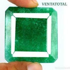 Coleccionismo de gemas: GIGANTE ESMERALDA DE 418,34 KILATES CON CERTIFICADO DGSL - MEDIDA 4,9 X 4,6 CENTIMETROS - Nº7. Lote 178915568