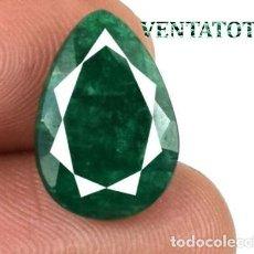 Coleccionismo de gemas - ESMERALDA COLOMBIANA LAGRIMA VERDE DE 5,05 KILATES - MIDE 1,5 X 1,0 X CENTIMETROS Nº4 - 168762352