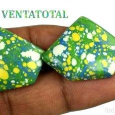 Collectionnisme de gemmes: LOTE DE 2 TURQUESAS BRASILEÑAS DE 57,15 KILATES - MIDE 2,9 X 2,4 X CENTIMETROS Nº2. Lote 168762536