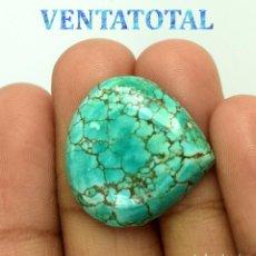 Coleccionismo de gemas: TURQUESA DEL TIBET DE 20,05 KILATES CON CERTIFICADO AGSL - MIDE 2,2 X 2,2 CENTIMETROS - Nº1. Lote 168977256