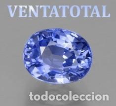 ZAFIRO AZUL ATERCIOPELADO DE 6,60 KILATES MEDIDA DE 1,0 X 0,8 CENTIMETROS - Nº15 (Coleccionismo - Mineralogía - Gemas)