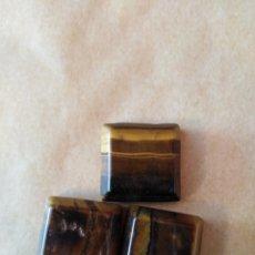 Coleccionismo de gemas: LOTE DE 3 OJOS DE TIGRE NATURALES DE 96,60 CT.. Lote 169742022