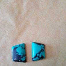 Coleccionismo de gemas: 2 TURQUESAS NATURALES DE 51,20 CT.. Lote 169742789
